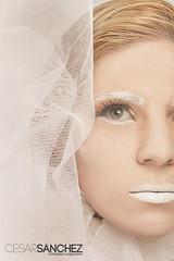White Witch (CesarSanchezFoto) Tags: white blanco halloween gris book model eyes witch retrato moda estudio ojos chic mirada sesion rostro venezolano valkiria bruja nochedebrujas phoroshoot cesarsanchez fotografovenezolano cesarsanchezfoto