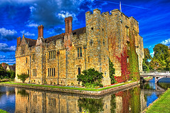 Hever Castle (Andy Gant) Tags: old uk greatbritain autumn england castle water architecture photoshop buildings reflections kent colours britain stonework bluesky oldbuildings structure moat canoneos hevercastle edenbridge photomatix architectureinpixels watereffects canonhdr oldandbeautiful canoneos550d