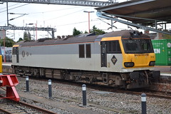GBRf 92010 Moliere (Will Swain) Tags: uk travel england west station train coast october britain rugby main transport trains class line 92 midland 6th midlands 2014 moliere mainline wcml gbrf 92010