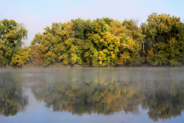 Fall Morning on the Cumberland River