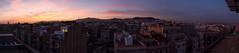 Sunset panorama, Barcelona, Spain (maxunterwegs) Tags: barcelona panorama espaa spain espanha cityscape stitch pano catalonia catalunya espagne stitched catalua spanien tibidabo barcelone katalonien catalogne catalunha