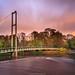The Bridge in Bute Park, Cardiff, UK