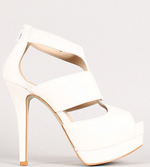 "strappy peep toe platform stilleo heel white • <a style=""font-size:0.8em;"" href=""http://www.flickr.com/photos/64360322@N06/15559860042/"" target=""_blank"">View on Flickr</a>"