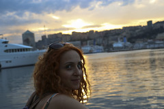 Portrait (feanor_efc) Tags: sunset portrait woman genoa