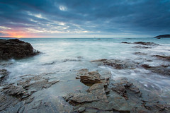 Peeking through (T_J_P) Tags: seascape sunrise dawn coast rocks cornwall battery 1740mm penzance 5d3