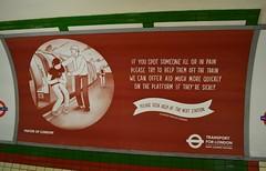 TFL Information (PD3.) Tags: uk england london underground poster sight information tfl