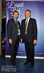 Thierry Braillard avec le président de la FFBAD, Richard Remaud