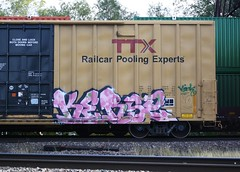 Kerse (quiet-silence) Tags: railroad art train graffiti railcar boxcar graff freight amfm tbox ttx fr8 kerse tbox661509