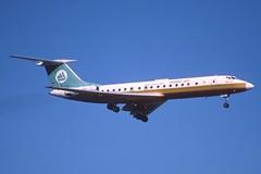 148av - Hemus Air Tupolev 134A-3; LZ-TUL@ZRH;28.09.2001 (Aero Icarus) Tags: plane aircraft flugzeug avion slidescan