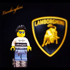 Lamborghini T-shirt custom madeby yslego --------see more on Instagram #yslego (#yslego on instagram) Tags: lego minifigs lamborghini minifigures yslego