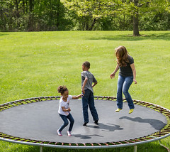 trampoline back home (mlle.jules) Tags: summer kids fun games trampoline trampolining