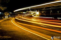 Trincomalee Road view - A bus went through... (nbavan7) Tags: light bus beautiful beauty lines night shine slow awesome nb line sl slowshutter shutter marching srilanka trincomalee bavan nbavan7