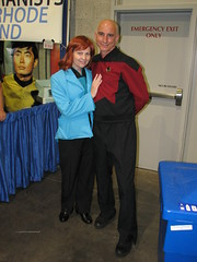 Dr. Crusher and Captain Picard (FranMoff) Tags: startrek costume cosplay sulu picard crusher 2014 costumer rhodeislandcomiccon ricomiccon