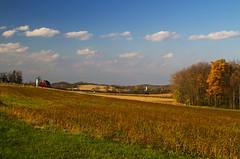 Farm Country (Matt Champlin) Tags: usa ny nature rural canon landscape peace random farm gorgeous country farming peaceful auburn redbarn countrylife 2014 redbarninfield