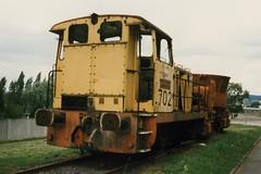 Unimtal Diesellocomotive N 702. (Franky De Witte - Ferroequinologist) Tags: de eisenbahn railway estrada chemin fer spoorwegen ferrocarril ferro ferrovia