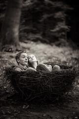 Küken (*altglas*) Tags: children nest kinder fledglings küken waldkunst