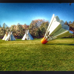I want to reach in the picture and flip the shuttlecock over. Would be a fun tipi. (LauraGilchrist4) Tags: education kansascity nelsonatkins shuttlecock tipi edcamp edcampkc