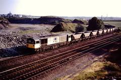 58026 Foxlow Jn 18 Jul 96 (doughnut14) Tags: train diesel rail loco bone coal freight bolsover class58 58026 foxlow