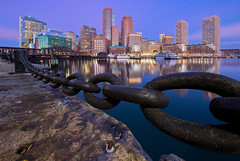 Good Morning, Boston! (chris lazzery) Tags: boston skyline sunrise twilight cityscape massachusetts bluehour bostonharbor canon6d canonef14mmf28lii