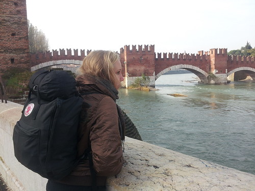 Avec Emily, à Vérone