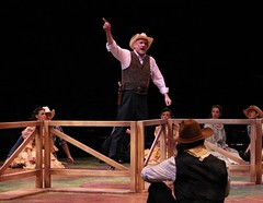 """Ron Wisniski as Pop Carnes in the 2010 Music Circus production of """"Oklahoma!"""" at the Wells Fargo Pavilion July 27-August 1.  Photo by Charr Crail."""