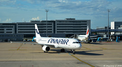 Finnair at Paris CDG (Maxime C-M ✈) Tags: airport france world travel arrival suomi finland international passion airplane aviation trafic d3200 gate evening summer holidays cloud sky weather