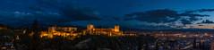 Panoramica Granada (waltgire) Tags: granada atardecer horaazul noche alhambra albaicin mirador sannicolas