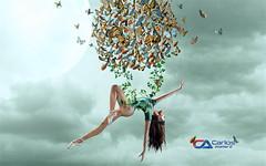 Carlos Atelier2 - Butterflies (Carlos Atelier2) Tags: carlos atelier2 borboletas mulher lua photoshop surreal