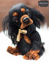 spaniel 5 (1 von 1) (Yanina Link) Tags: softsculpture sculpture art artwork artist artistteddy animals artistdoll doll dog bilibinobears spaniel teddy toys stuffedtoy ooak ooakteddybear ooakdoll cavalier charles king puppy