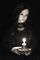 ADAW 12 2017 (Yalki Palki) Tags: bjd doll twigling sio2 candle colddew brass black magic mysterious dark witch