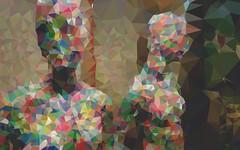 Polygons from my painted mannequin #benheineart #polygons #digitalart (Ben Heine) Tags: benheinephotography photography composition light smartphone nature landscape beauty beautiful photo photographie art ifttt instagram benheine horizon benheineart