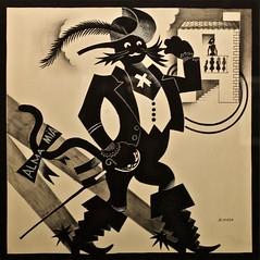 "The tragedy of ""Dona Ajada"" - II - The Stud walks by - José de Almada Negreiros (1893-1970) (pedrosimoes7) Tags: josédealmadanegreiros salvadorbacarisse manuelabril caloustegulbenkianmuseum moderncollection lisbon portugal museu musée museum creativecommons cc artgalleryandmuseums ✩ecoledesbeauxarts✩ blackwhitepassionaward"