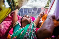 Passion - Annakut (SaumalyaGhosh.com) Tags: passion portrait woman color face tension india festival annakut nikon d610 westbengal kolkata challenge sari devotee