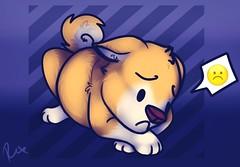 :C (Rexros) Tags: rex rexro rexroart art artwork custom sai puppy pup shiba canine doge dog sad sadface c emoji