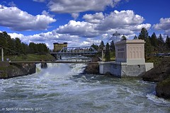 "Upper Spokane Falls (jimgspokane) Tags: spokanewashingtonstate spokaneriver spokanefalls rivers waterfalls ""nikonflickraward"""