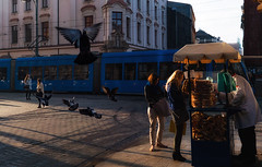 Busy Street (whidom88) Tags: krakow poland street scene early morning