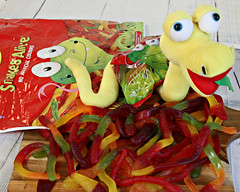 2017 Sydney Royal Easter Show: Showbags #11 (dominotic) Tags: 2017 sydneyroyaleastershow theshow ras food sydney showbags amusements homebush nsw australia newsouthwales rural citymeetscountry agriculturalshow agriculture eastershow sideshow sideshowalley snakesalive lollysnake lolly candy confectionery sweets