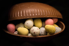 Happy Easter Flickerites! (JDWCurtis) Tags: chocolate cocoa eggs easter eastereggs minieggs shell chocolateshell chocolateshells egg christian celebration sweet yummy tasty sugary