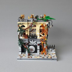 Brick Bank front 1 (Zilmrud) Tags: moc lego steampunk mutant laboratorium lab palace cinema brick bank swebrick ruins san victoria modular house building steam punk