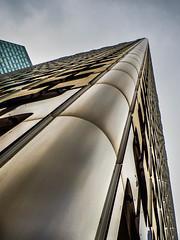 golden diagonal #2 (Le petit oiseau va...) Tags: architecture building buiding city cityscape cloud gold diagonal france paris ladéfense olympus omd