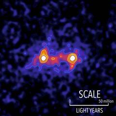Rilevati gli effetti di filamenti di materia oscura che uniscono coppie di galassie (astronomia24) Tags: cosmologia materia oscura