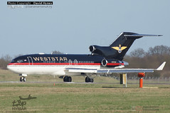 Weststar Boeing 727-23 N800AK lining up at London Stansted Airport 13 March 2017 (bananamanuk79) Tags: planespotter planewatch pictures aviation airplane airport london flying flight runway air travel transport pilot avgeek airways takeoff departure flyer vehicle outdoor airliner jet jetliner airbus lovers flyers travelling holiday jumbo logo livery painted stansted photos jets boeing 727 trijet boeing727 rareaircraft rare aerospace weststar londonstanstedairport 72723 n800ak
