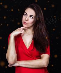 Girl of the lights (Maripaz Molina) Tags: maripazmolina mujer rojo red retrato portrait fantasy photoshop edition