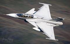 Swedish Air Force (Flygvapnet) SAAB JAS-39D Gripen (benstaceyphotography) Tags: swedish air force flygvapnet saab jas39d gripen thirlmere lake district sweden aircraft multirole fast jet fighter nikon aviation ben stacey
