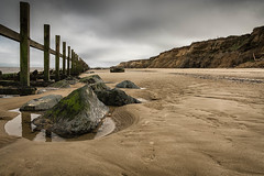 Happisburgh sea defences, Norfolk, UK (2) (Nick Bowman1) Tags: sonyzeissvariosonnar2470f28 overcast uk sonyilca99m2 happisburgh seadefences groynes norfolk