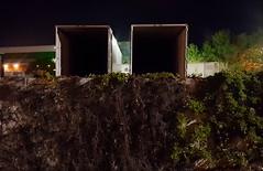THE EMPTINESS WITHIN (akahawkeyefan) Tags: trucks trailers empty wall growth vegetation trees dark davemeyer kingsburg