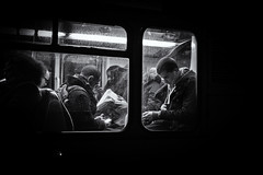 Bus, Liverpool Street, London (Ariel DaSnapper) Tags: bus night fujifilm xpro1 street streets streetphotography candid blackandwhite bnw bw monochrome