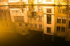 Gent (Roelie Wilms) Tags: gent belgië reflectie nachtopname