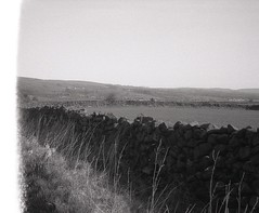 wall (OhDark30) Tags: olympus 35rc 35 rc film monochrome bw blackandwhite fomapan 200 rodinal drystone wall dry stone verge fields country hill staffordshire staffs bwfp