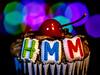 Celebratory Cake (eddm1962) Tags: cupcake smallcake verysmallcake germanchocolatecake germanchocolatecupcake macromondays happy10years tenthanniversary congratulations